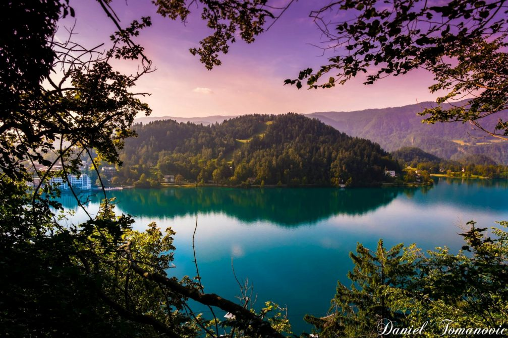 A view over Lake Bled towards the Straza hill