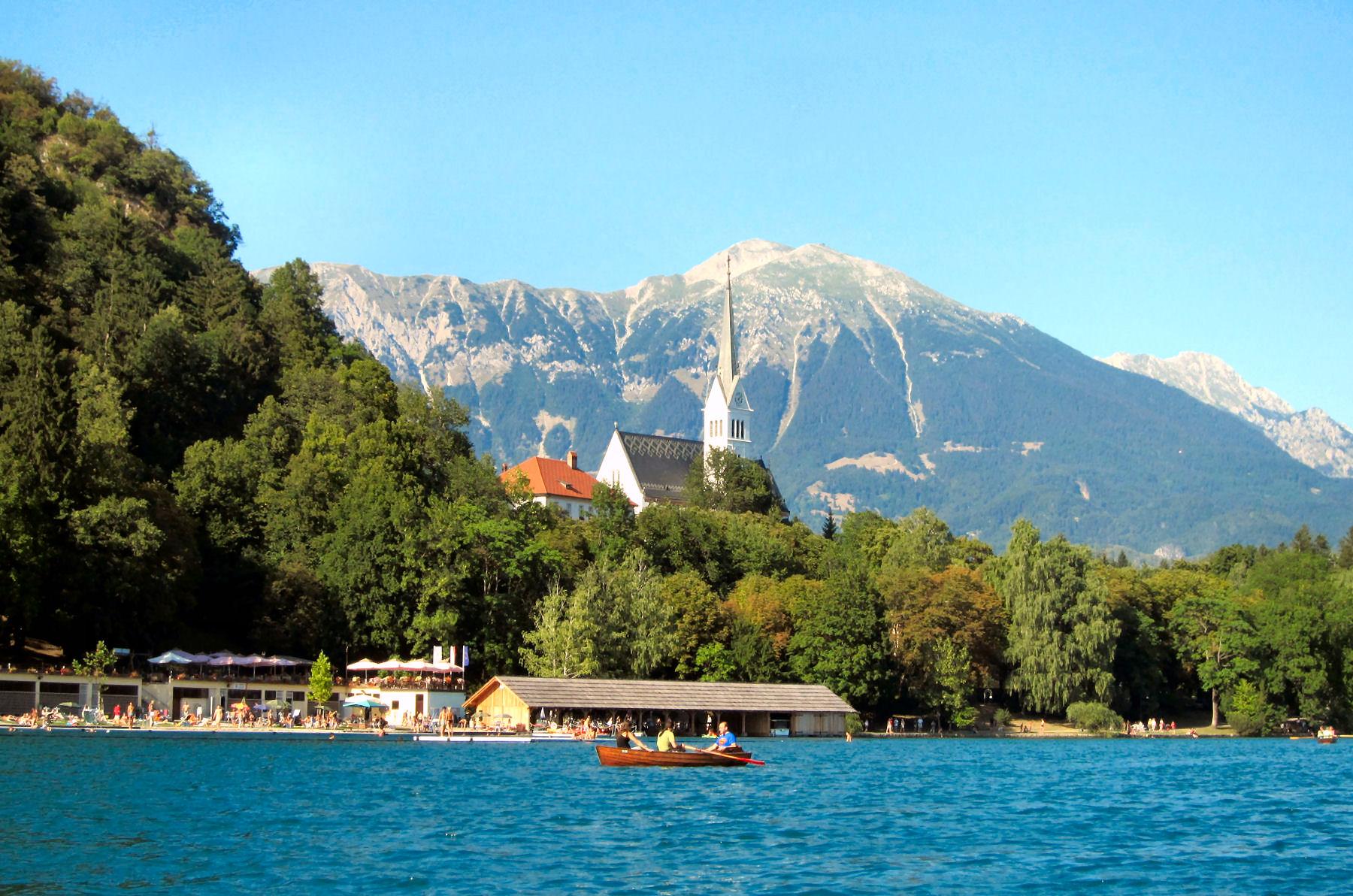 Lake Bled has the longest swimming season of all Alpine resorts