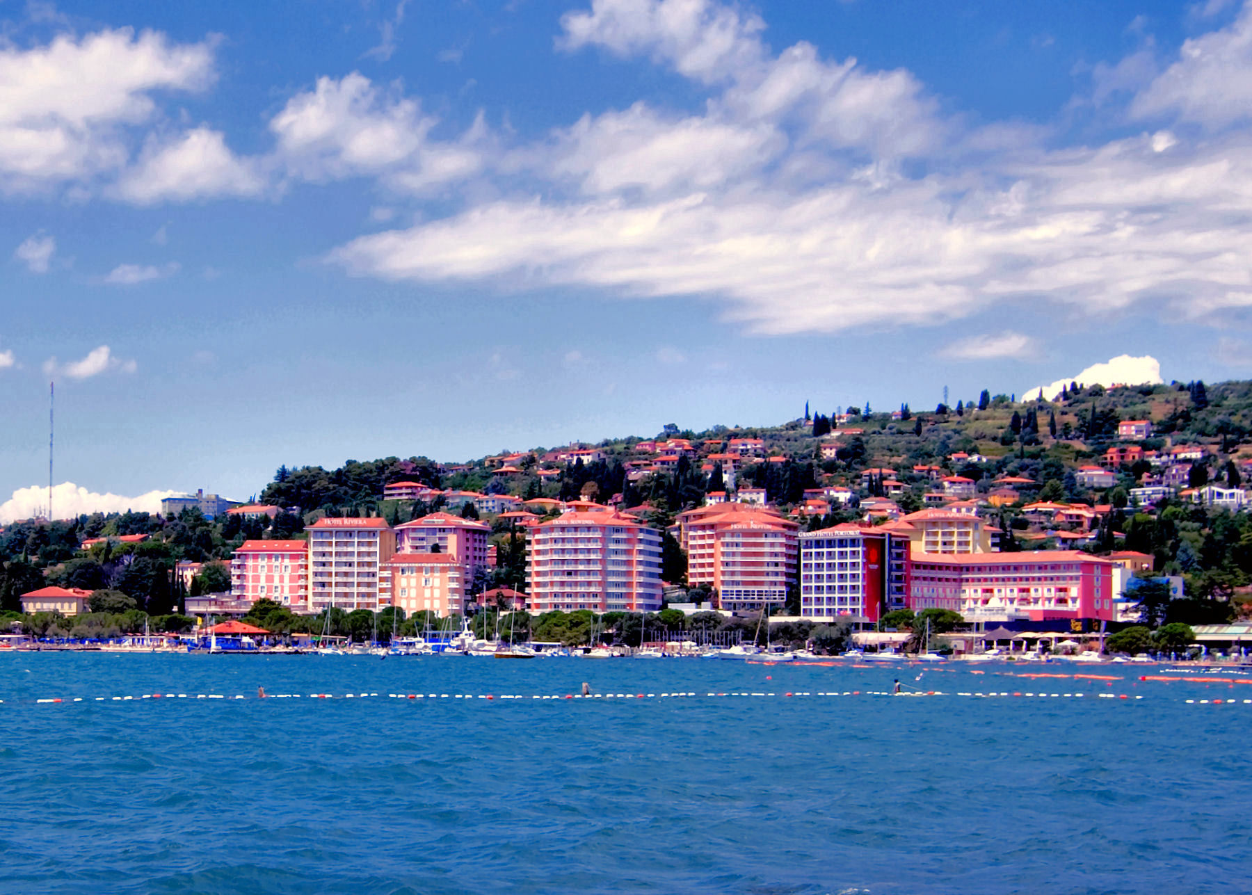 Portoroz is the most important tourist centre on the Slovenian coast