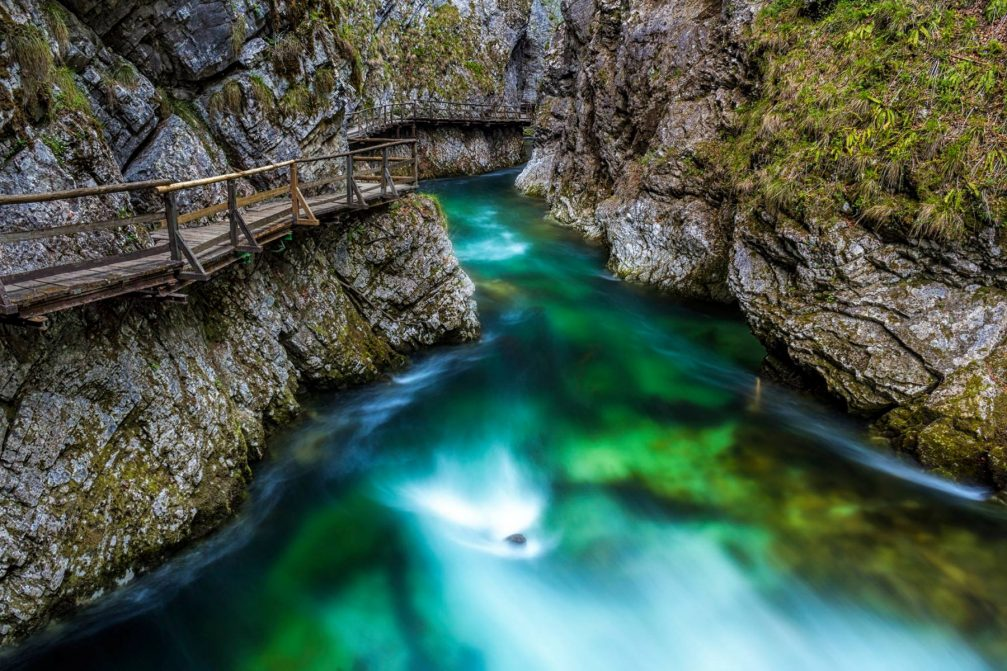 Vintgar Gorge, a natural wonder in the Bled area of Slovenia