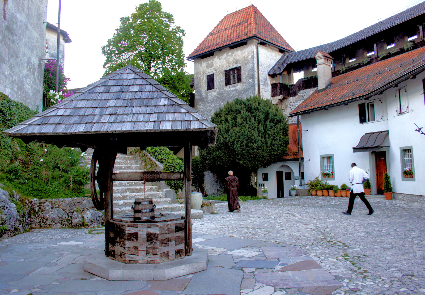 The old well at Bled Castle