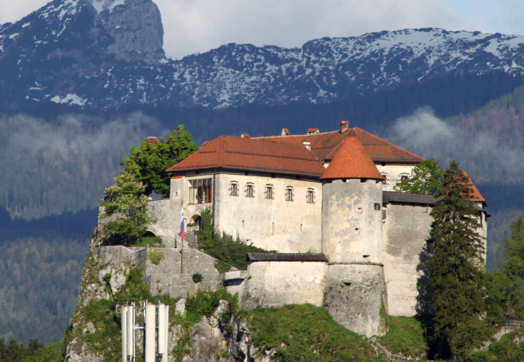 Bled Castle looks like how most people imagine a medieval fortress to be
