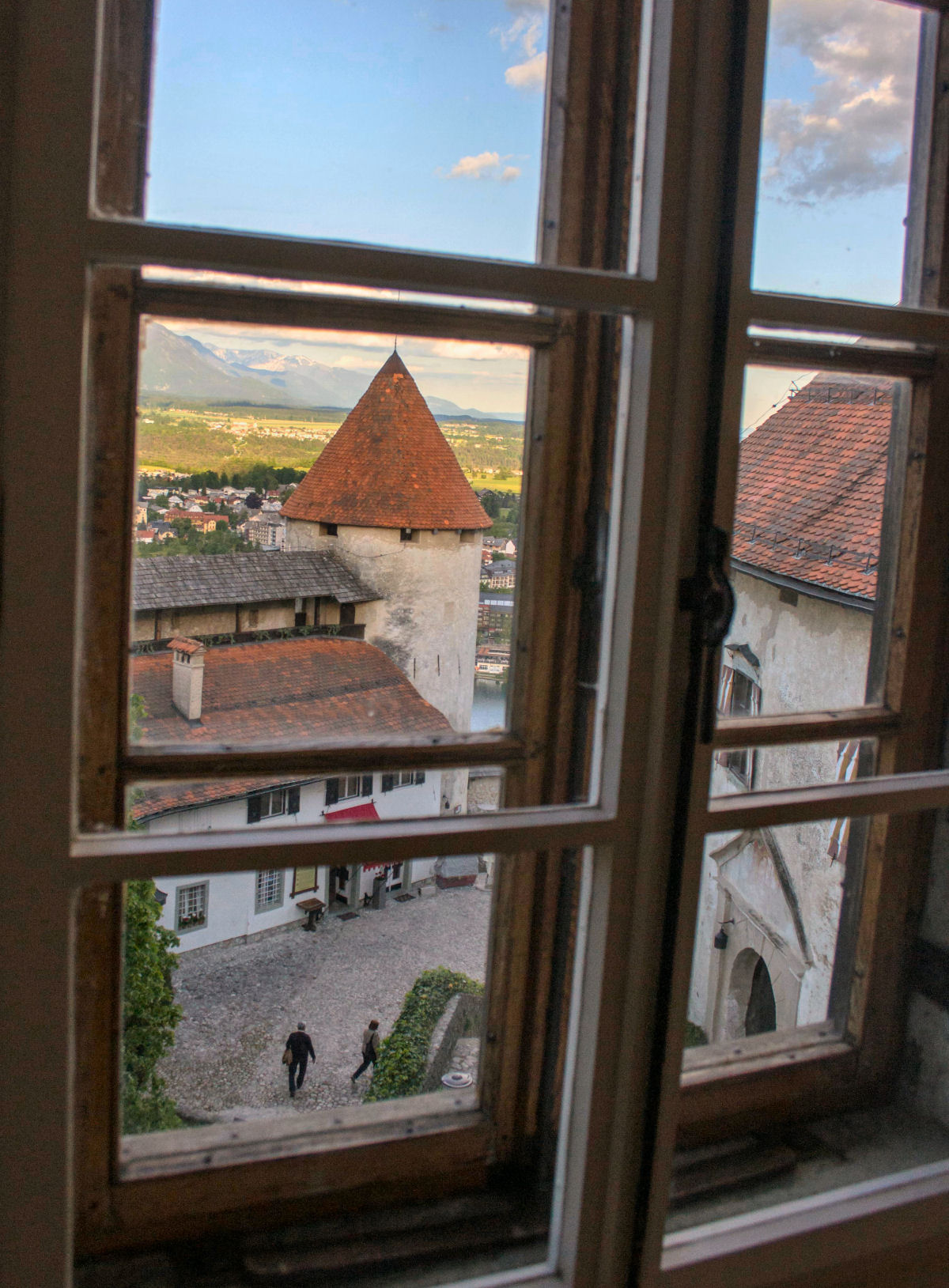 Another view from the window in Bled castle