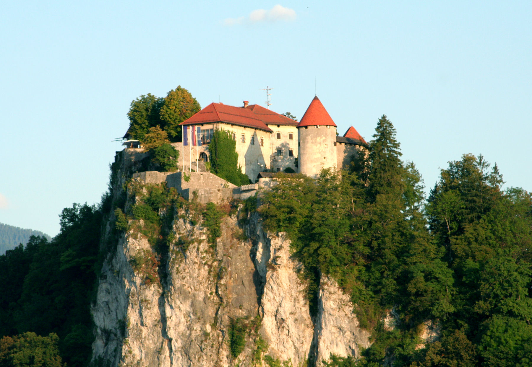 Bled Castle looks pretty small from afar, but it's pretty big when you're closer