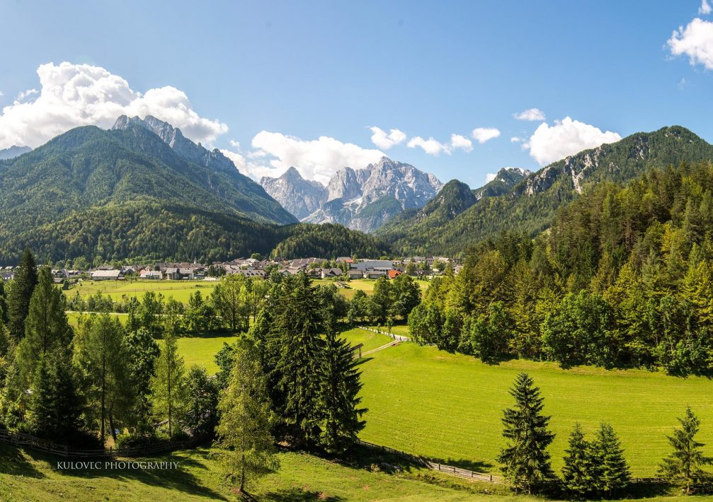 The village of Kranjska Gora in the Julian Alps in Slovenia