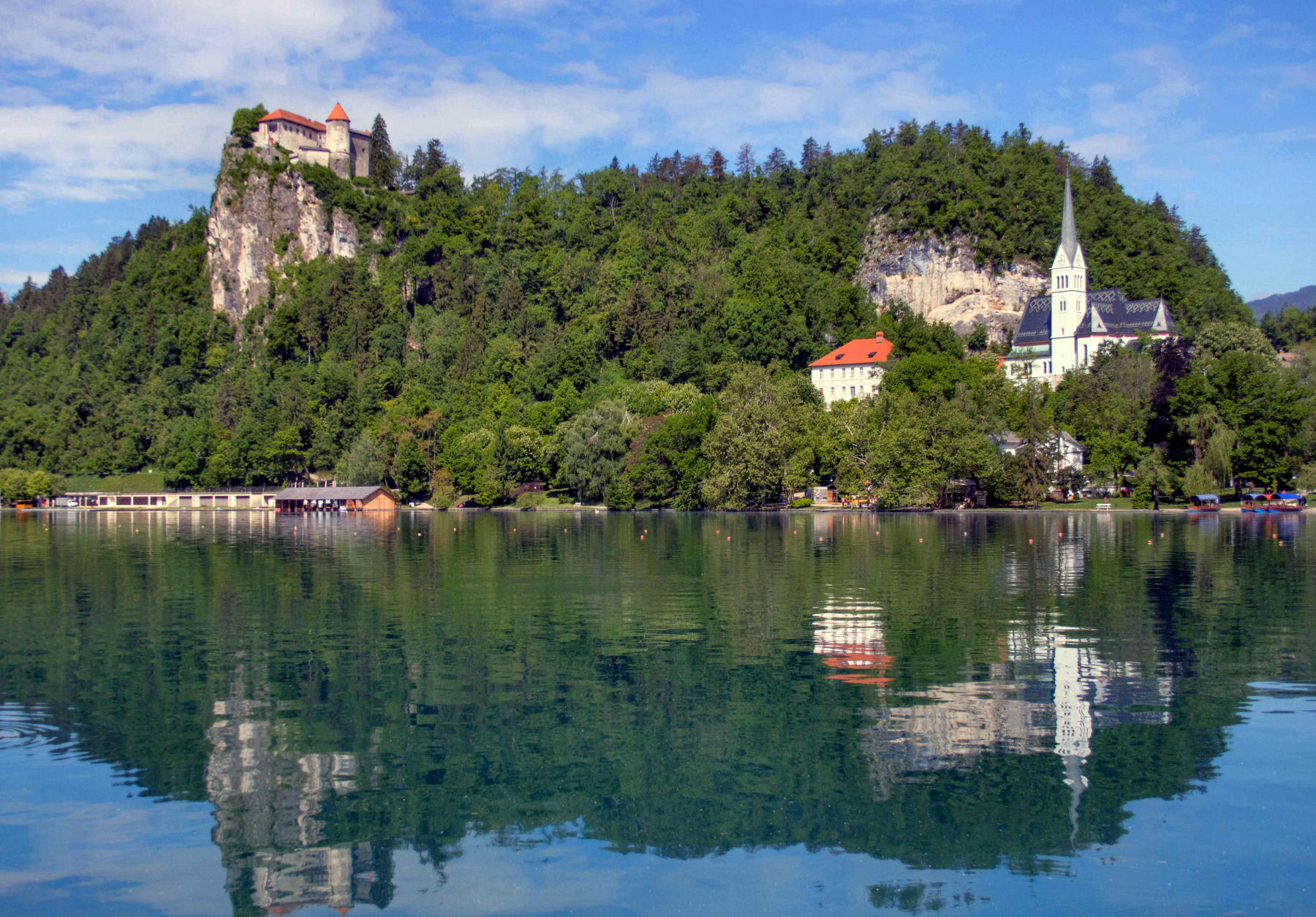 Overlooking Lake Bled is the iconic Bled Castle