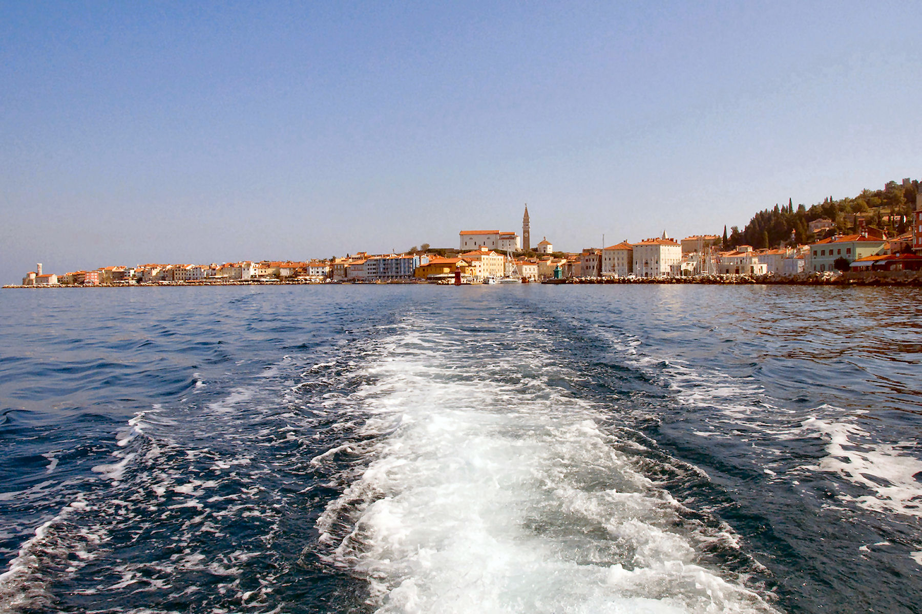 Piran Slovenia, view from the sea