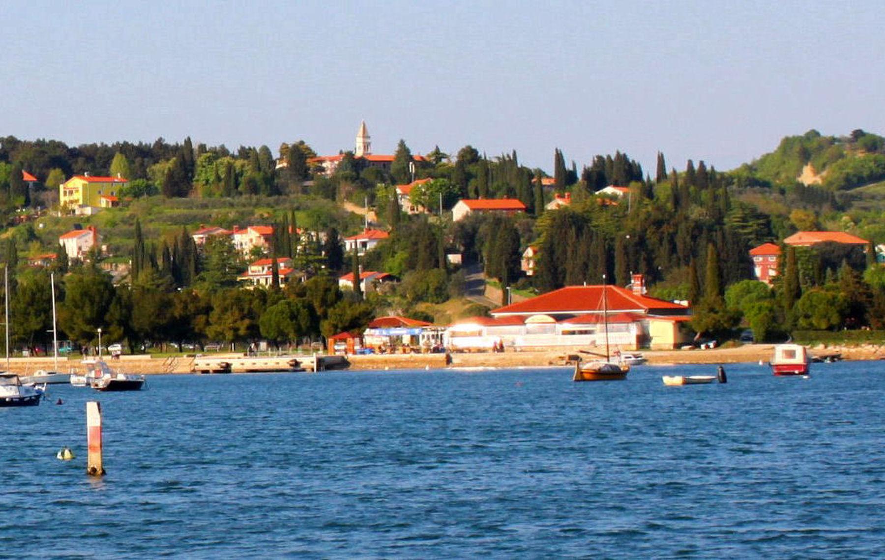 View along the waterfront of Strunjan, Slovenia