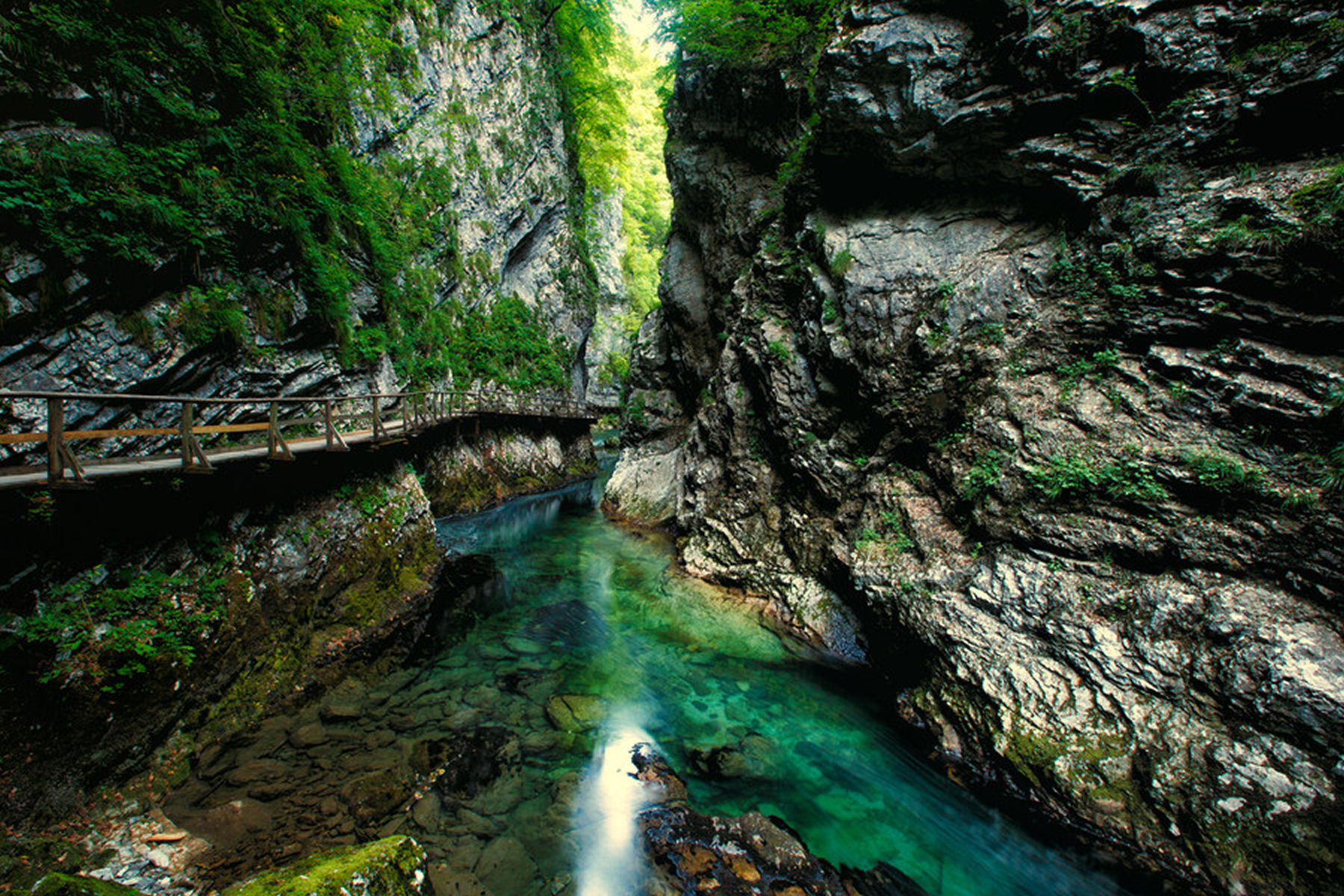 Vintgar Gorge is the major attraction in the immediate vicinity of Bled, Slovenia