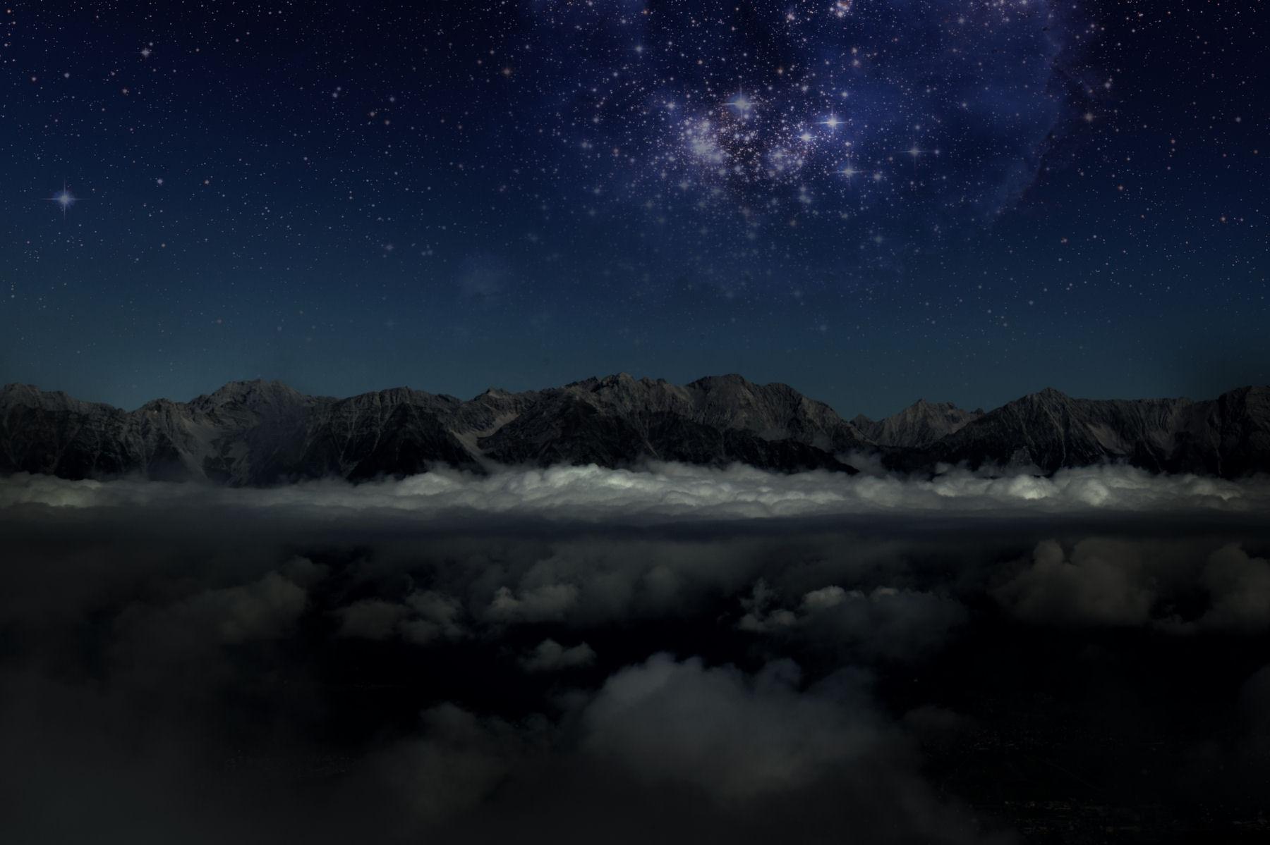 Slovenian Alps at night