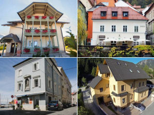Collage of Slovenia apartments