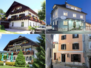 Collage of Slovenia bed and breakfasts