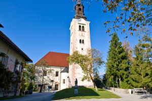 The Pilgrimage Church of the Assumption of Mary on Bled Island, Slovenia