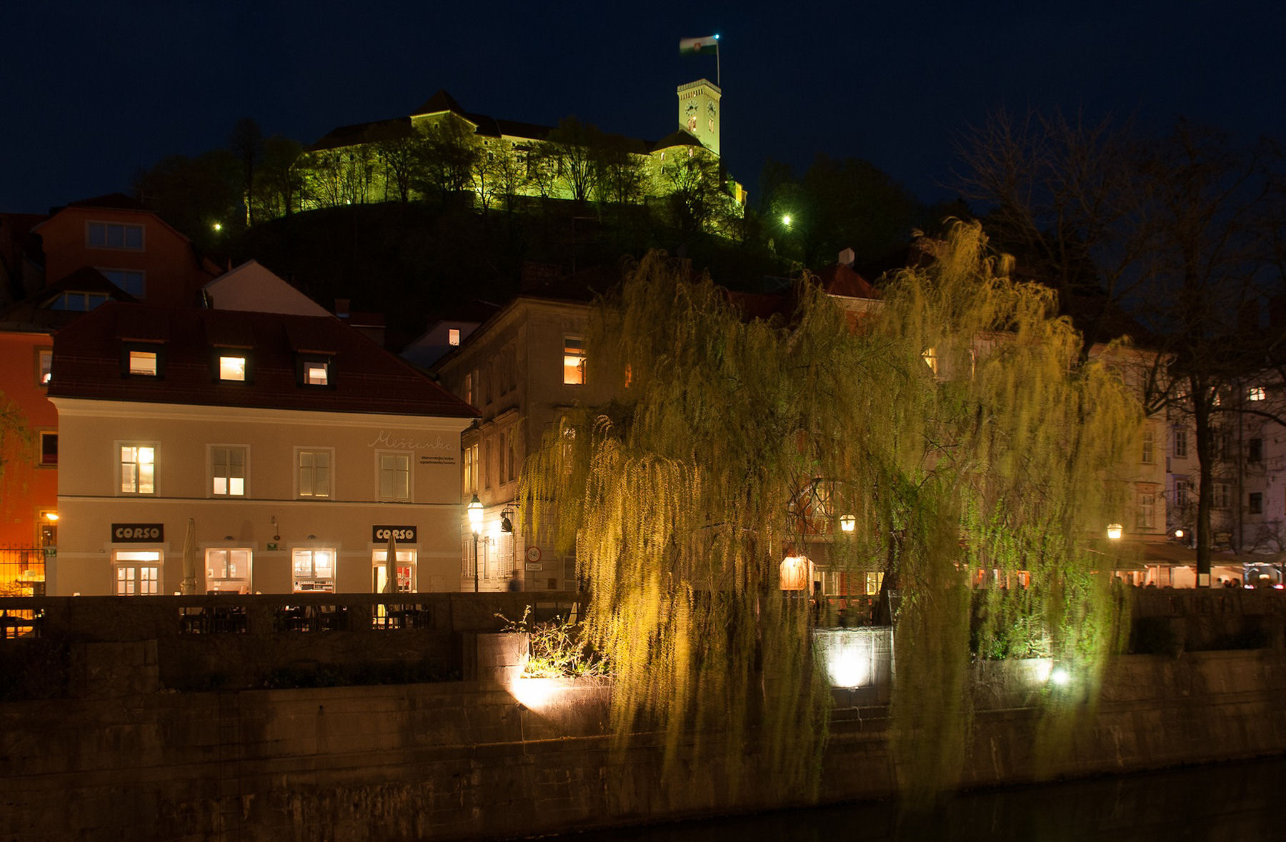 Another view of the Ljubljana castle at night