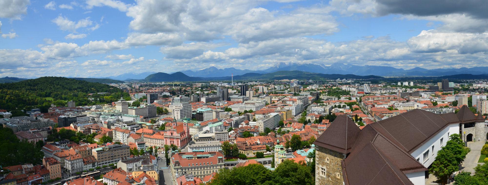 Ljubljana Slovenia  city images : Slovenia's capital Ljubljana as seen from Ljubljana Castle's ...