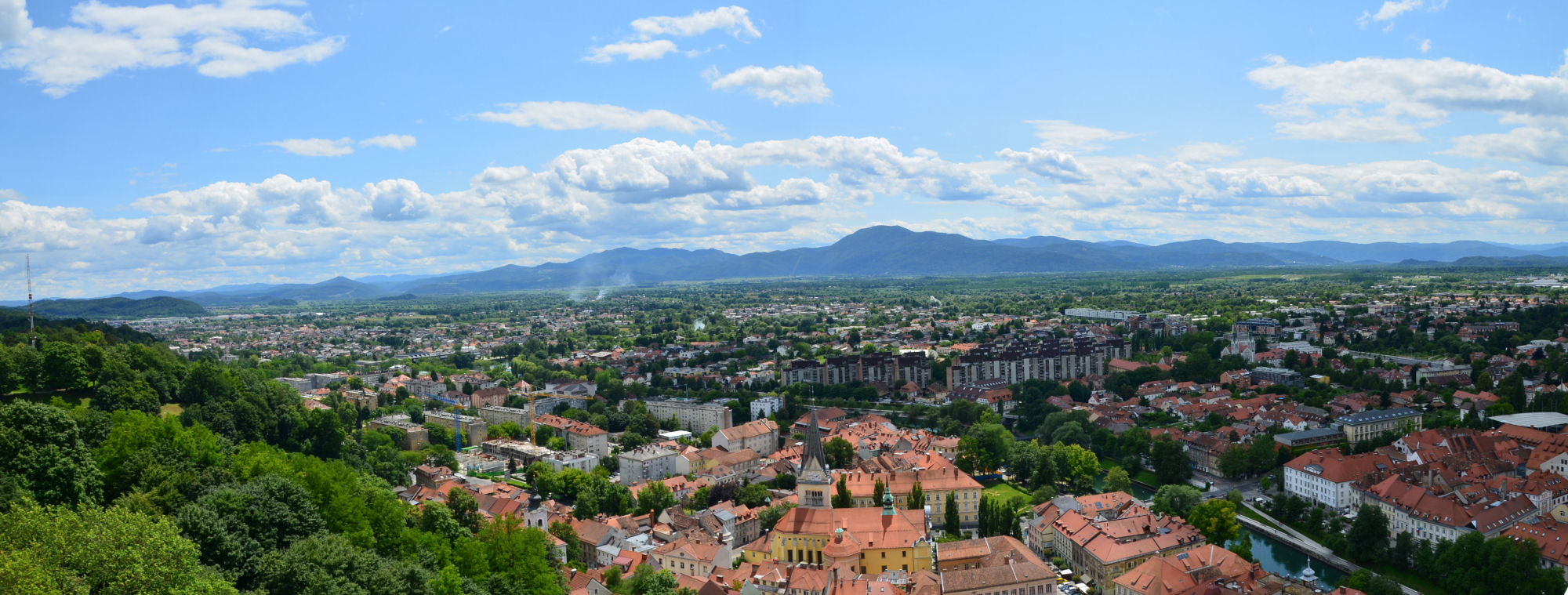 The views across Ljubljana, the capital of Slovenia are worth the visit alone