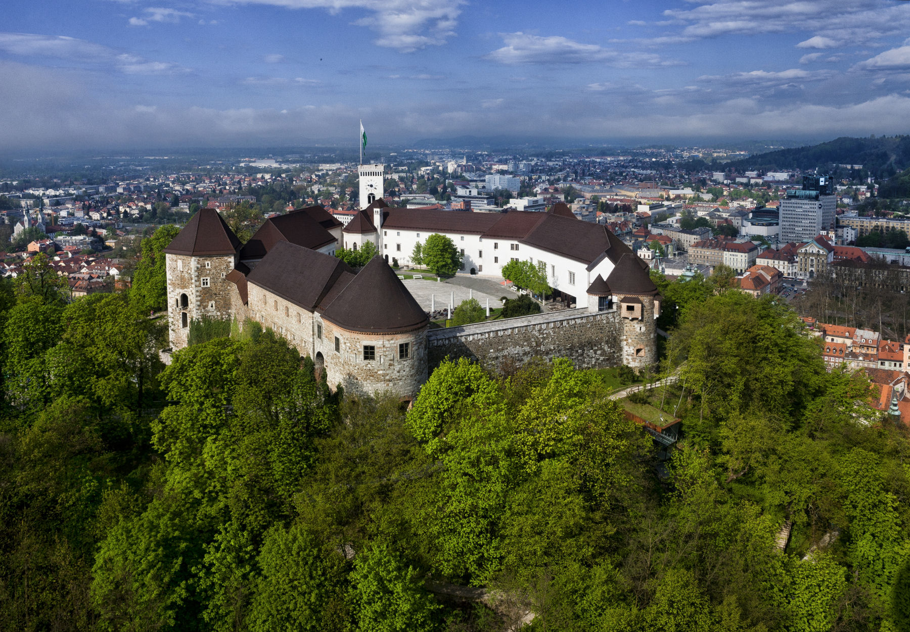Ljubljana castle in the capital of Slovenia