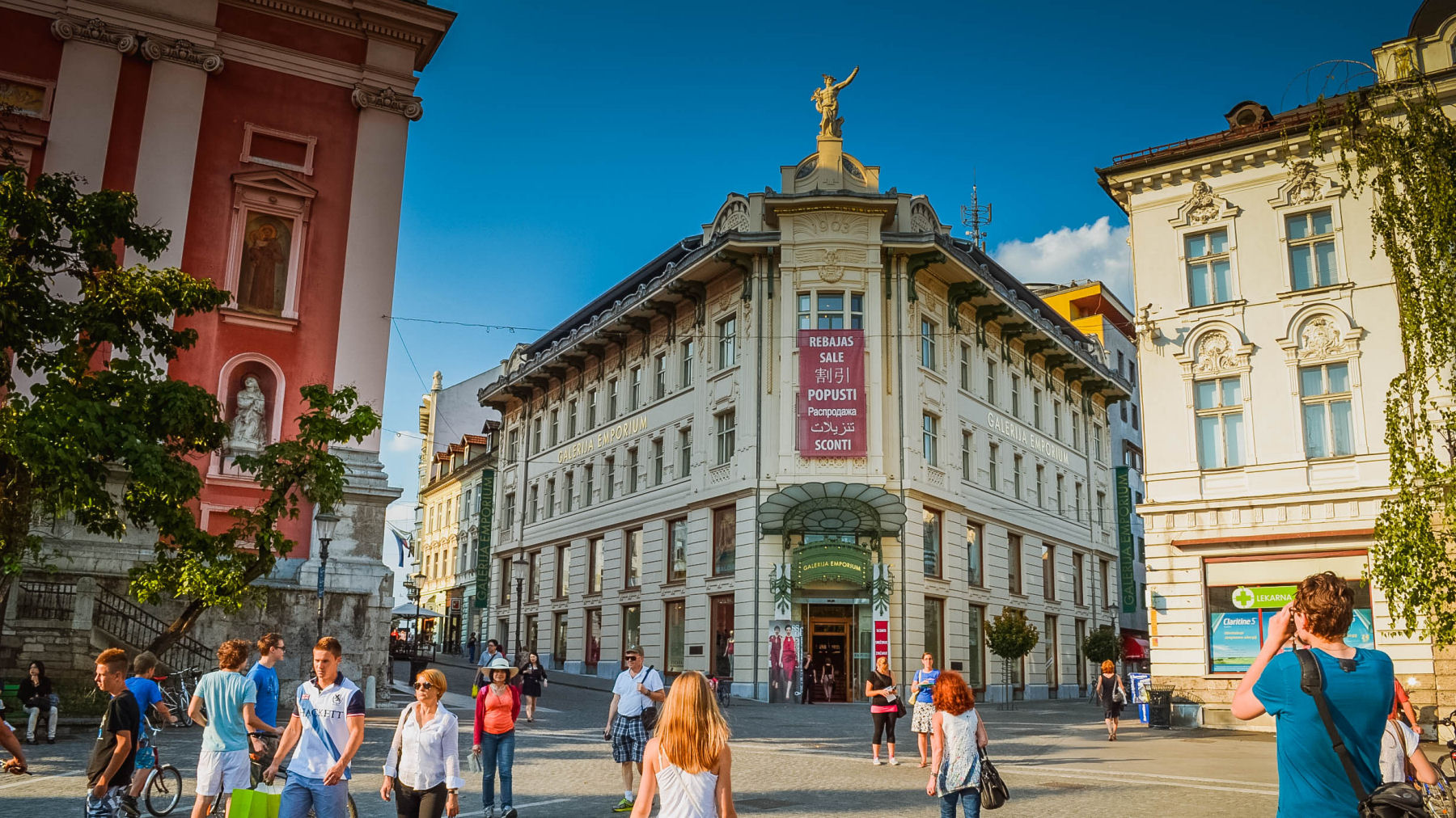 Ljubljana old town is mostly Baroque, with some Renaissance and Art Nouveau buildings