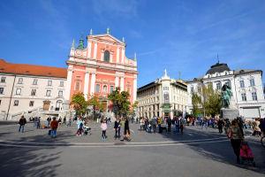 Preseren square in Ljubljana