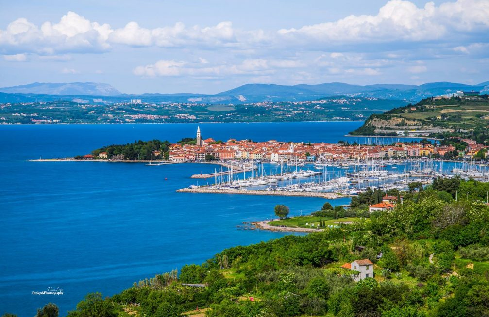 A beautiful panorama of Izola, Slovenia