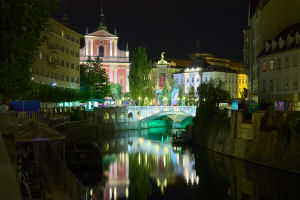 Ljubljana Slovenia at night