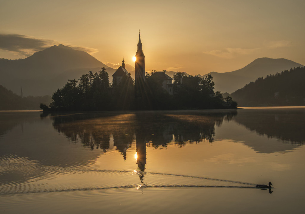 Lake Bled mystic sunrise
