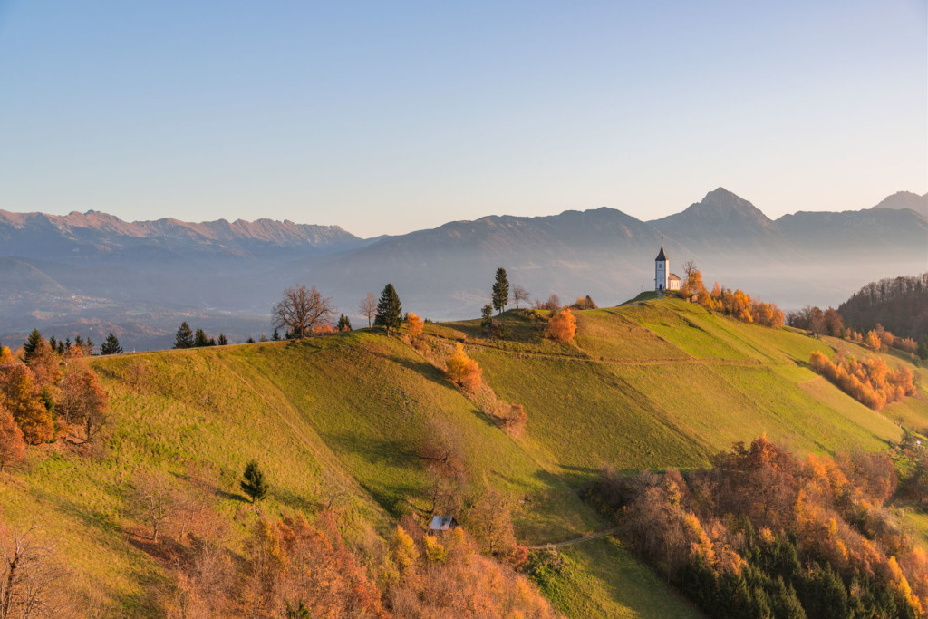 Jamnik Church of Saints Primus and Felician in the Upper Carniola region of Slovenia