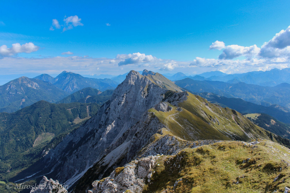 Karawanks mountain range in Slovenia