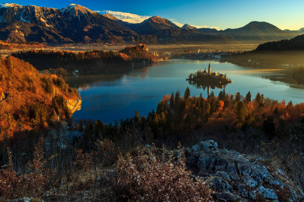 Lake Bled in Slovenia is naturally beautiful any time of year