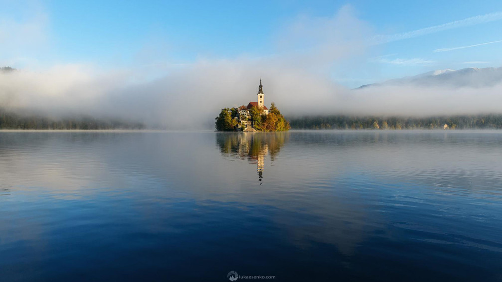 Bled Island is barely large enough to embrace the 15th-century Church of the Assumption