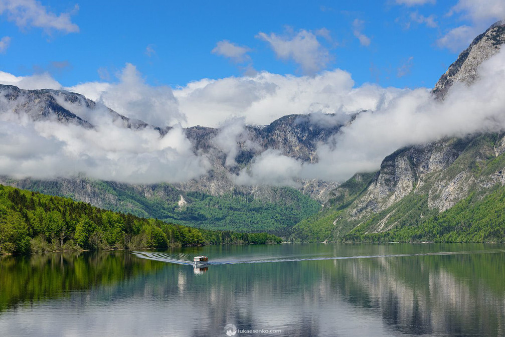 Another perfect day at Lake Bohinj in Triglav Natinal Park in Slovenia