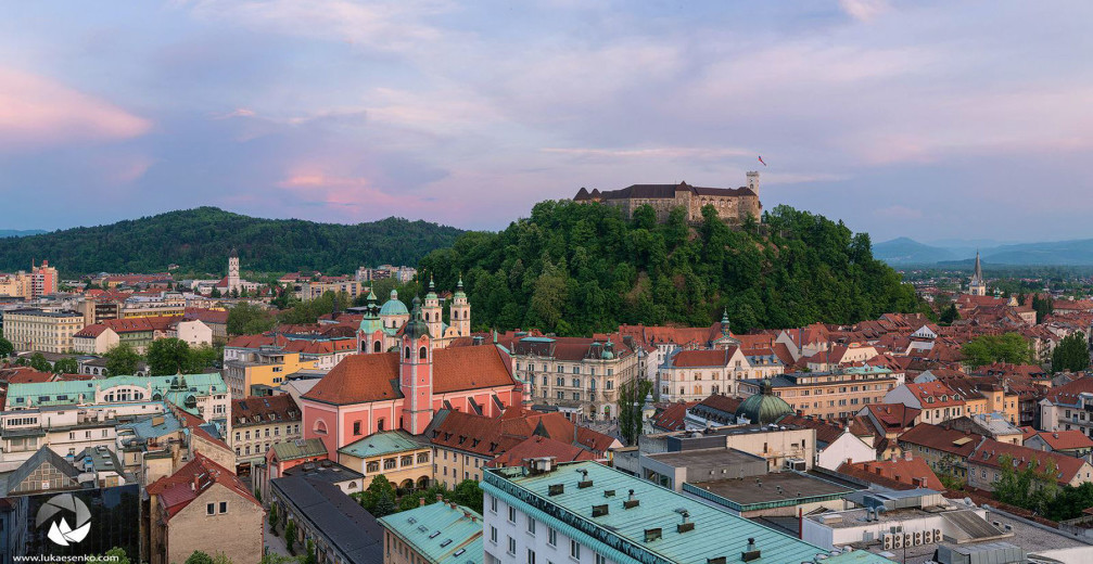 Panorama of Ljubljana, the capital of Slovenia