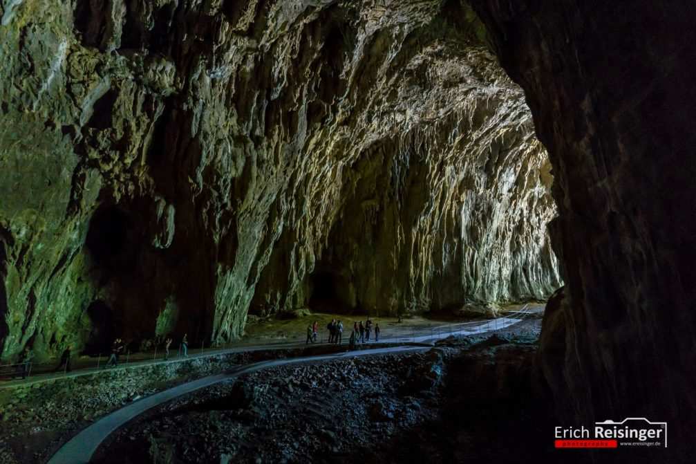 A breathtaking view at the exit of the Skocjan Caves in Slovenia