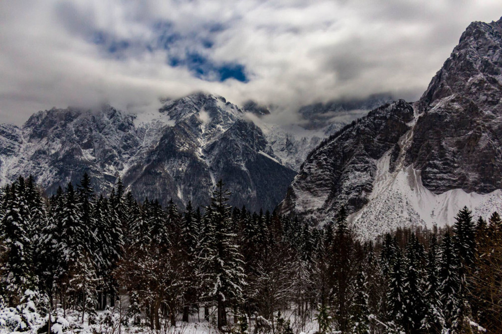 Winter in the Slovenian Alps, Slovenia