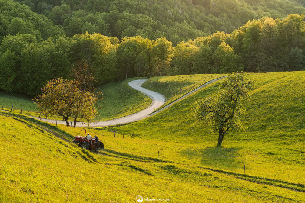 Slovenian countryside is beautiful and green