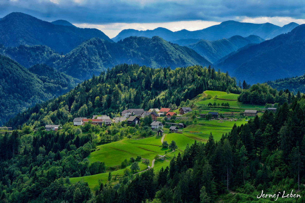 Village of Topolje in the Selca valley in the Upper Carniola region of Slovenia