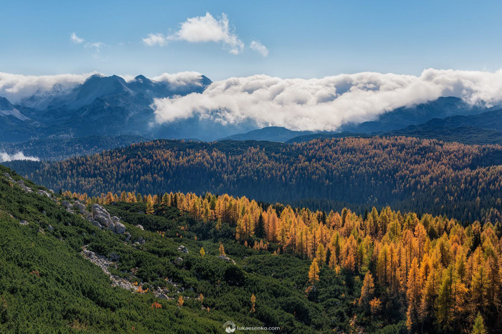 The heart of Triglav National Park, Slovenia in beautiful autumn colors