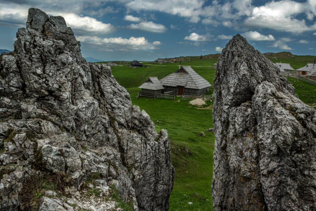 Velika Planina in Slovenia, one of Europe's few surviving high mountain herdsmen's settlements