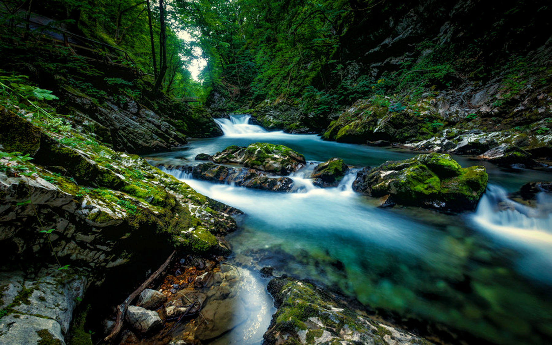Vintgar gorge is a very calming place too