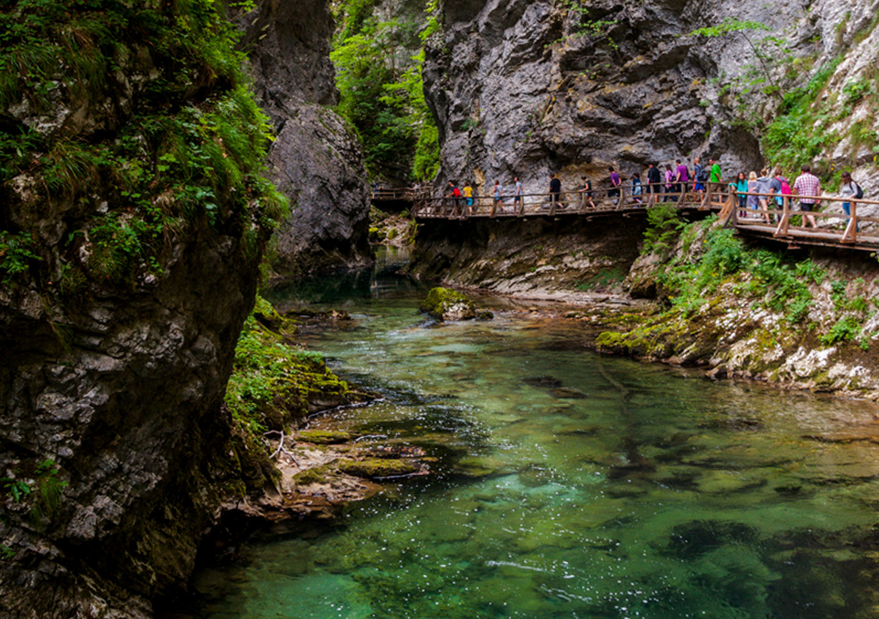 Vintgar Gorge is a little touristy with a boardwalk through the entire gorge