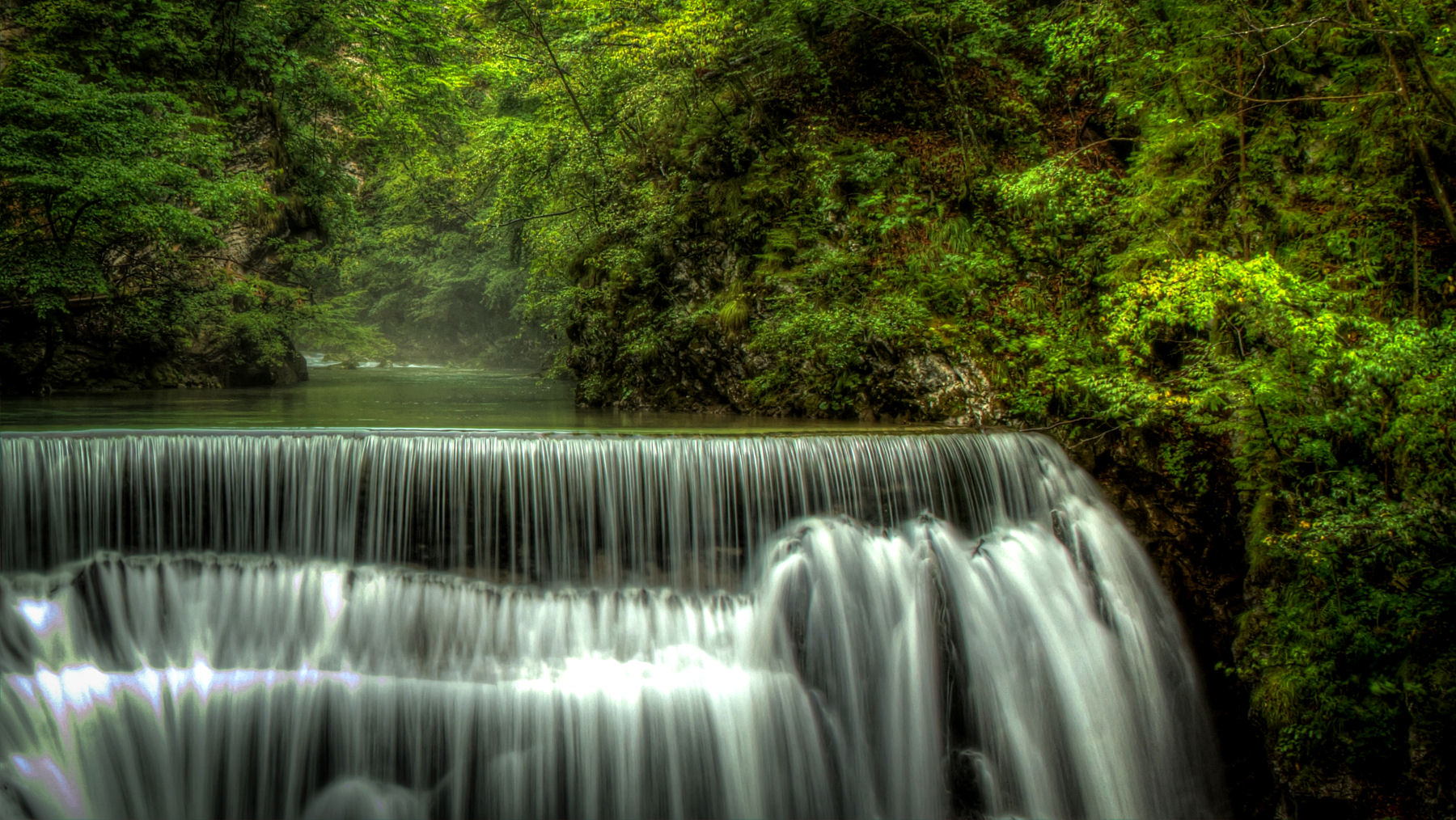 Vintgar Gorge offers clear waters, trout spotting, wooden walkways, waterfalls and more