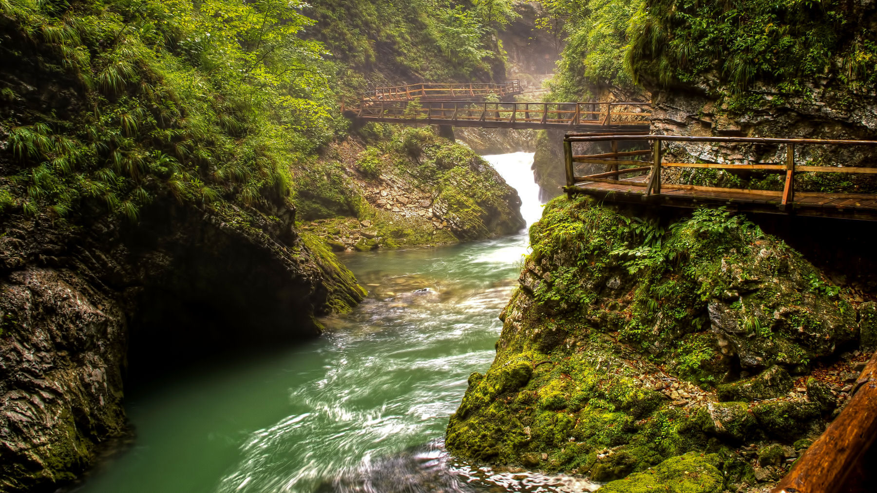 Even with inclement weather, Vintgar Gorge is a special treat