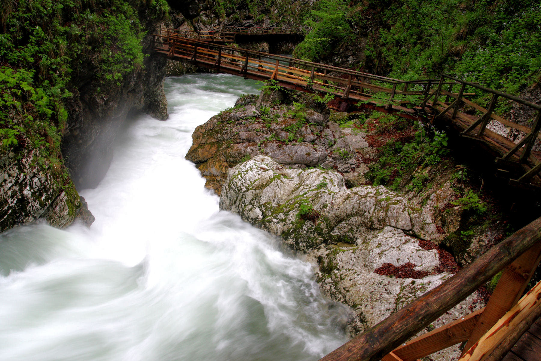 Vintgar Gorge is a real jewel located near Lake Bled, Slovenia