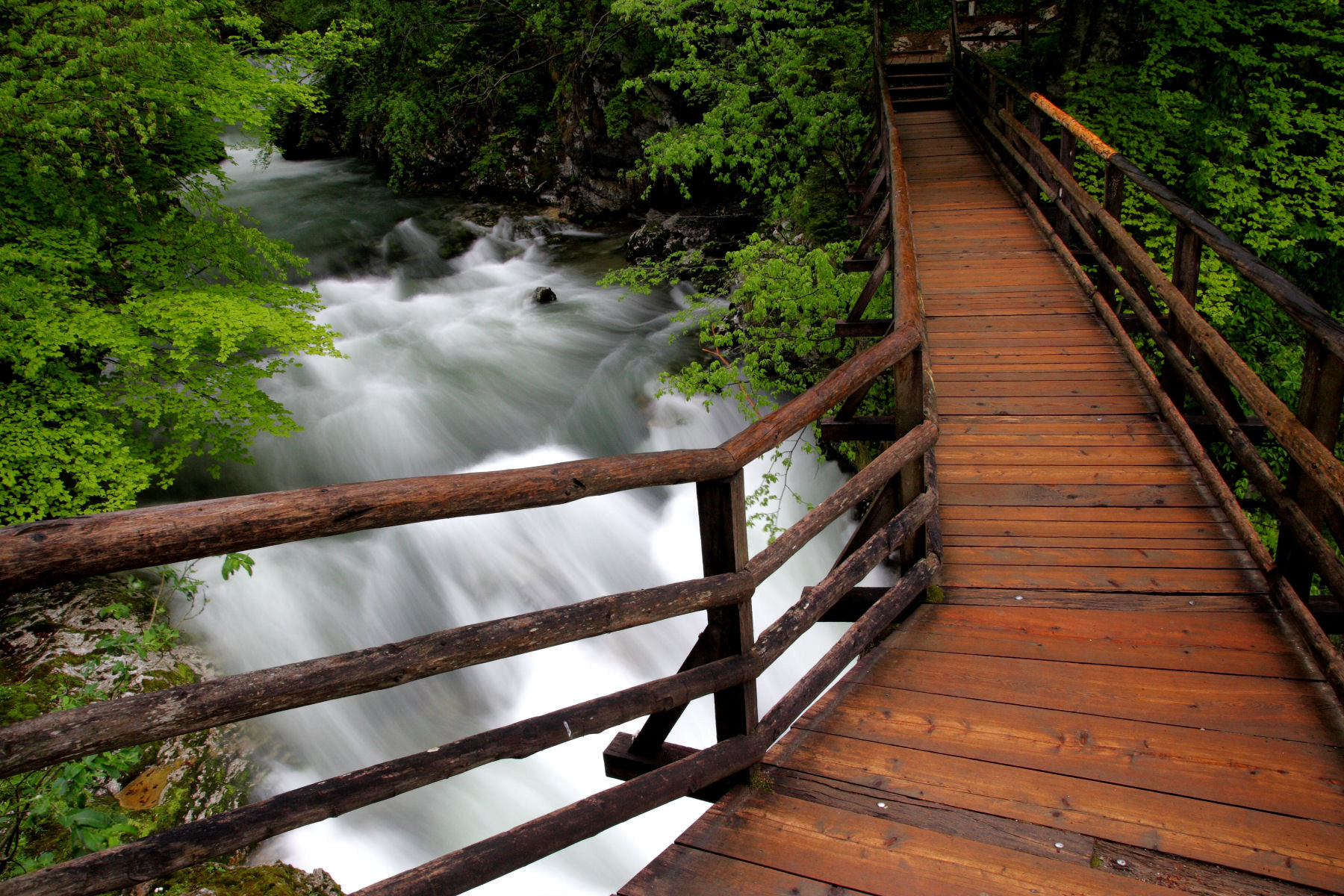 The Vintgar gorge path is well maintained and safe for young and old