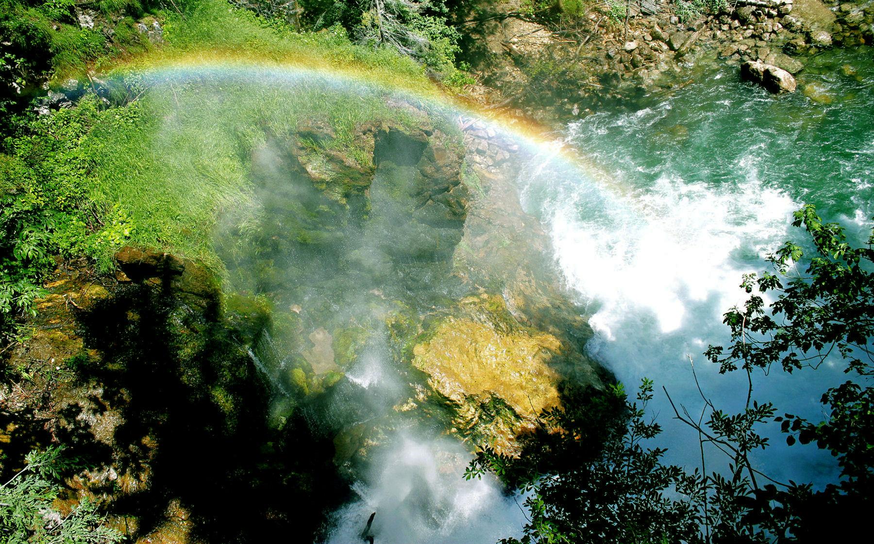 Vintgar Gorge rainbow