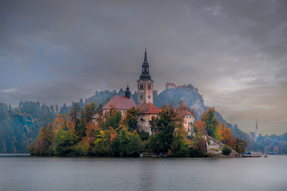 Church on an Island in Lake Bled, Slovenia