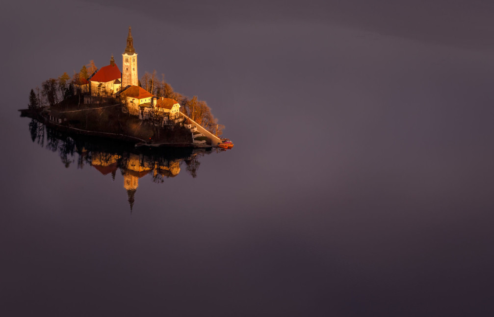 Bled Island with the Pilgrimage Church of the Assumption of Mary, Slovenia