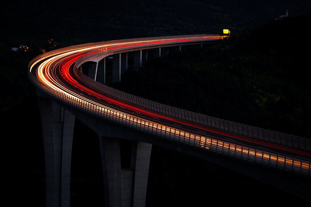 Crni Kal viaduct, the longest motorway bridge as well as the tallest structure in Slovenia