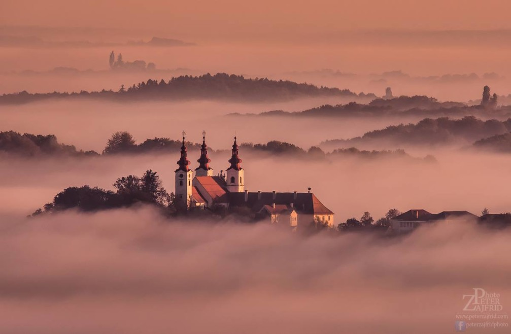 Holy Trinity Pilgrimage Church in the Slovene Hills near the town of Lenart, Slovenia