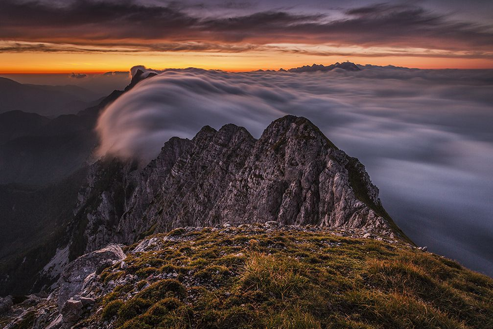 Kladivo is a 2,094 meter high mountain peak in the Karavanke mountain range, Slovenia